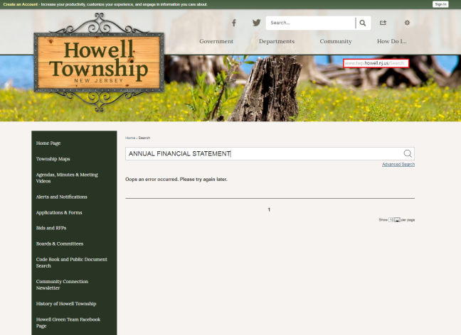 HOWELL NO ANNUAL FINANCIAL STATEMENTS AND OR DOCUMENTS FRAUD AFOOT ALREADY KNOWN HOW BAD WE WANT TO KNOW