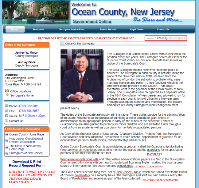 OCEAN COUNTY FUCKS UP AND FUCKING NAMES FOREIGN ENTITY FROM WHERE AUTHORITY DERIVED