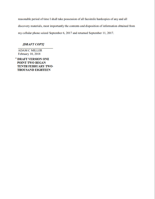 PAGE NINE UNSUBMITTED MOTION DRAFT COPY FEBRUARY 12 TWO THOUSAND EIGHTEEN - Copy