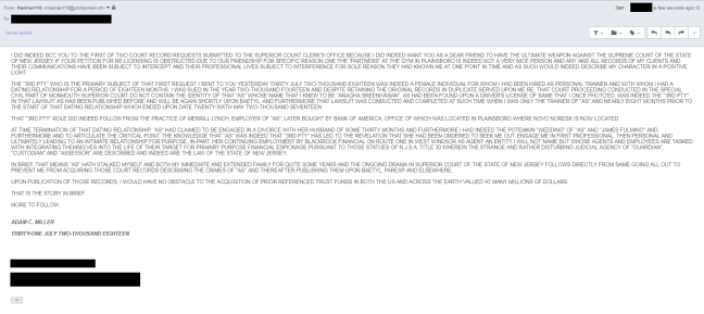 THAT VERY RATHER CRITICAL EMAIL DATED THIRTY ONE JULY TWO THOUSAND EIGHTEEN RE 3RD PTY AS