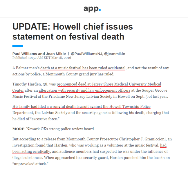 APP UPDATE ON KUDRICK STATEMENT RE BELMAR DEATH AT MUSIC FESTIVAL