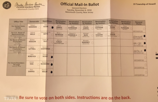 OFFICIAL MAIL IN-BALLOT TWO-THOUSAND EIGHTEEN-2