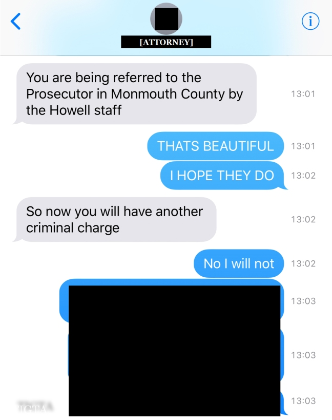 THIRTY PARTY TRANSMISSION OF HOWELL COURT THREATS ONE