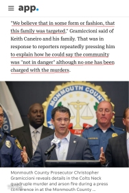 KEITH CANEIRO FAMILY TARGETED IN SOME WAY AS PER GRAMICCIONI