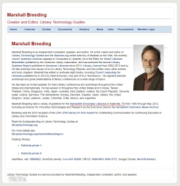 LIBRARY TECHNOLOGY DOT ORG MARSHALL BREEDING