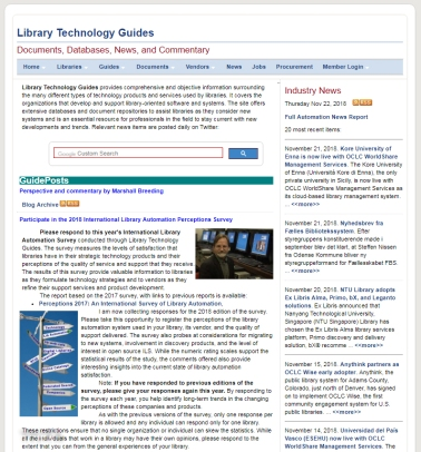 LIBRARY TECHNOLOGY DOT ORG