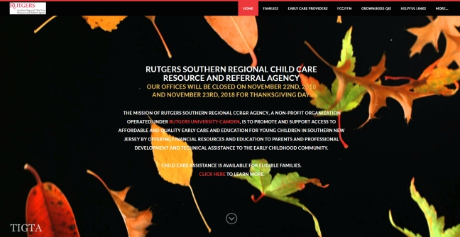 RUTGERS SOUTHERN REGIONAL CHILD CARE RESOURCE AND REFERRAL AGENCY