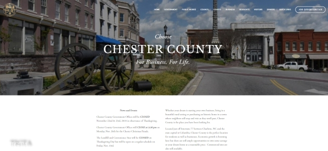 WEBSITE OF CHESTER COUNTY SOUTH CAROLINA