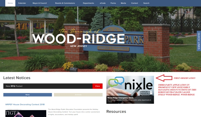 WOOD RIDGE NEW JERSEY COUNTY BERGEN NIXLE THIRD PARTY APP