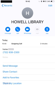 HOWELL LIBRARY CALL RE MUNICIPAL CODE TEXT