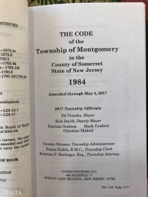 THE MUNICIPAL CODE OFTHE TOWNSHIP OF MONTGOMERY FOUR